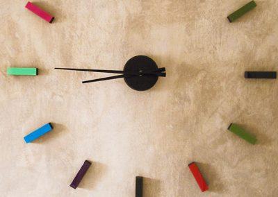 Gestalteratelier Interieur Wandlasur Uhr
