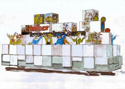 Skizze Illustration Konzept Museum Koeln