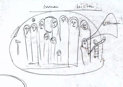 Illustration Vorlage Helge Schneider Gestalteratelier