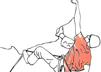 Kletterfabrik Illustration Blum