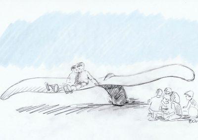 Koelner Zoo Illustration Entwurf Konzept