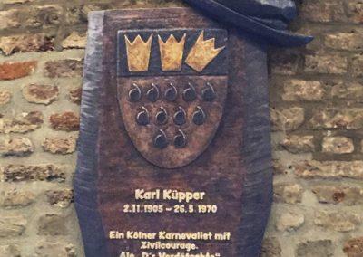 Guerzenich Gedenktafel Karl Kuepper Gestalteratelier